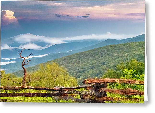 Greeting Card featuring the photograph Blue Ridge Parkway View by Ken Barrett