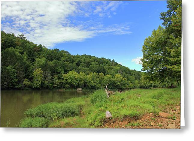 Greeting Card featuring the photograph Blue Sky At Cumberland River by Angela Murdock