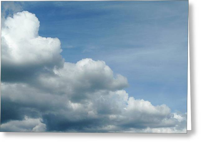 Blue Sky, White Clouds Greeting Card