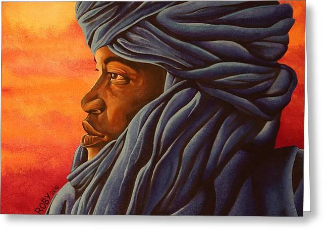 Blue Tuareg Greeting Card
