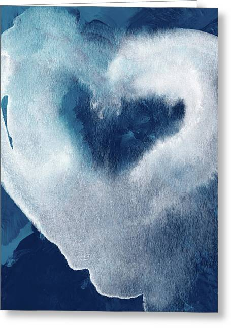 Blue Valentine- Art By Linda Woods Greeting Card