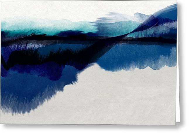 Blue Vista- Art By Linda Woods Greeting Card
