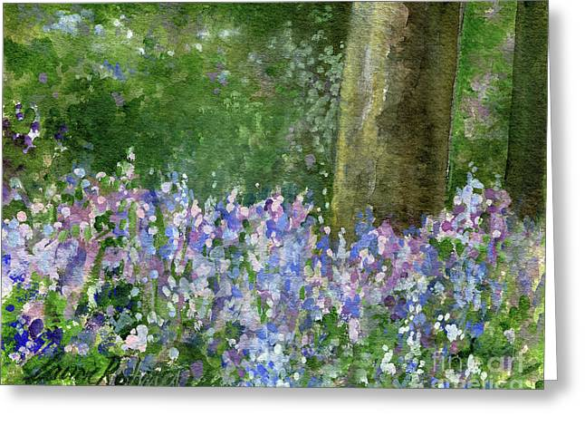 Bluebells Under The Trees Greeting Card
