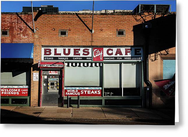 Blues City Cafe Greeting Card
