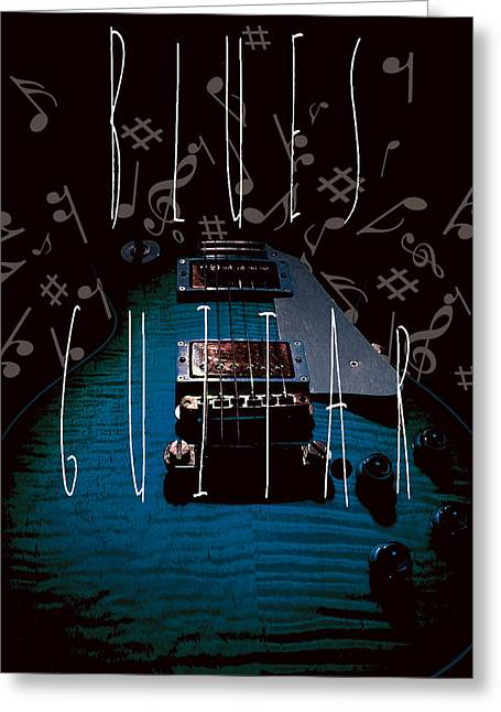 Blues Guitar Music Notes Greeting Card