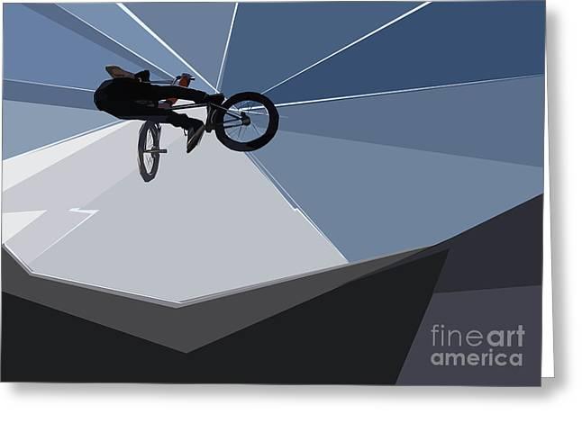 Bmx Biking  Greeting Card