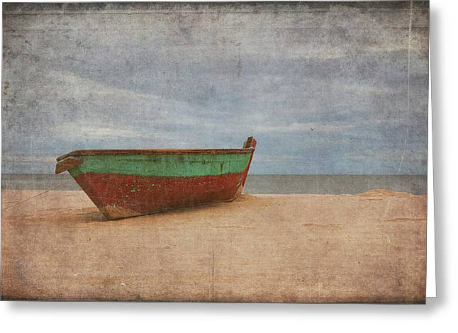 Greeting Card featuring the digital art Boat by Christopher Meade