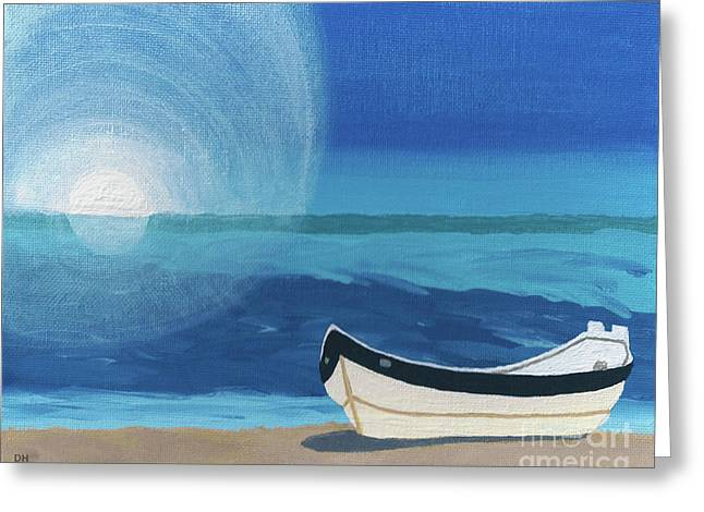 Boat On The Beach Greeting Card