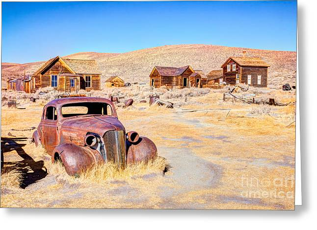Bodie Is A Ghost Town In The Bodie Greeting Card