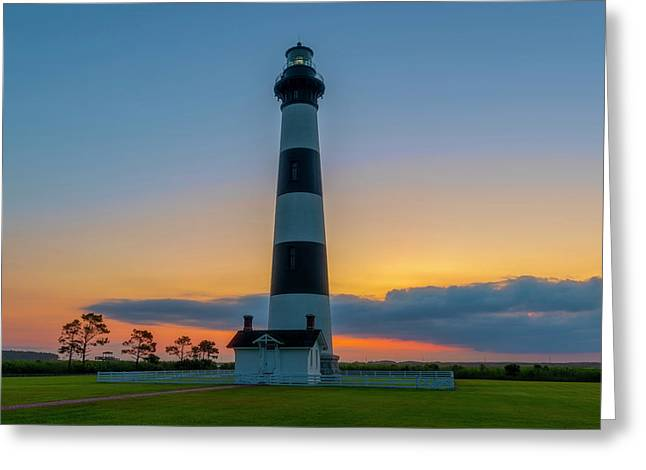 Greeting Card featuring the photograph Bodie Island Lighthouse, Hatteras, Outer Bank by Cindy Lark Hartman