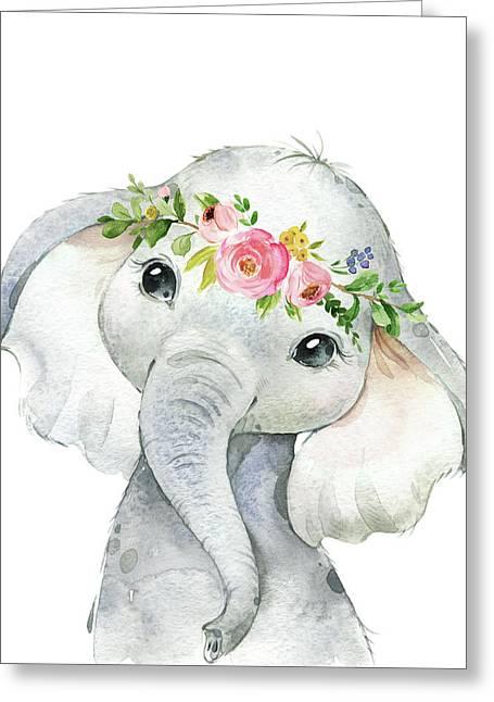 Boho Elephant Greeting Card