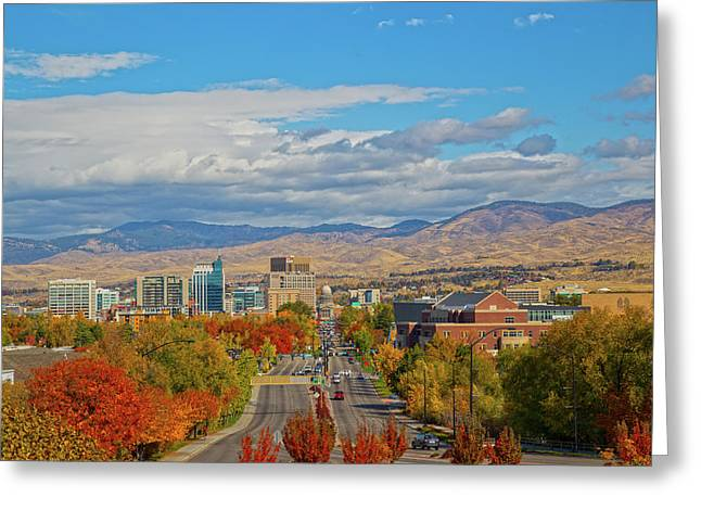 Greeting Card featuring the photograph Boise In Fall by Dart and Suze Humeston