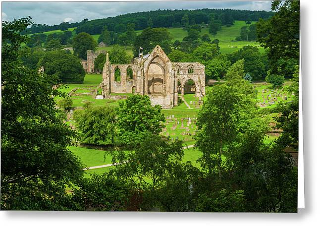 Bolton Abbey, Yorkshire Dales Greeting Card by David Ross