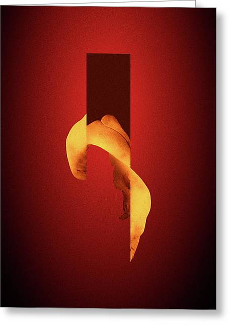 Bone Flare - Surreal Abstract Elephant Bone Collage With Rectangle Greeting Card