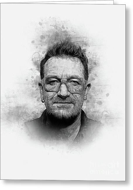 Bono Greeting Card