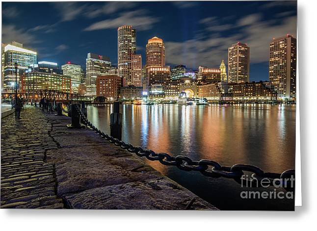 Boston At Blue Hour Greeting Card