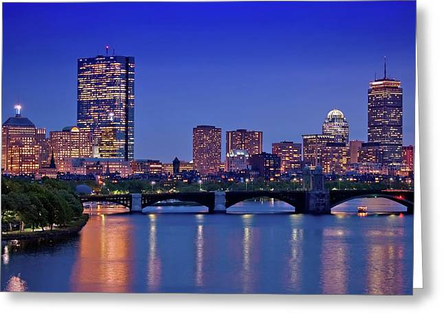 Boston Nights 2 Greeting Card