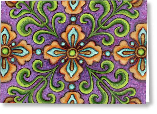 Botanical Mandala 10 Greeting Card