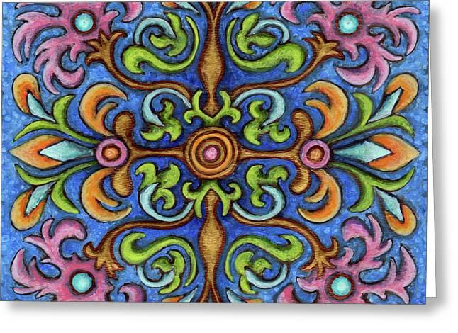 Botanical Mandala 2 Greeting Card