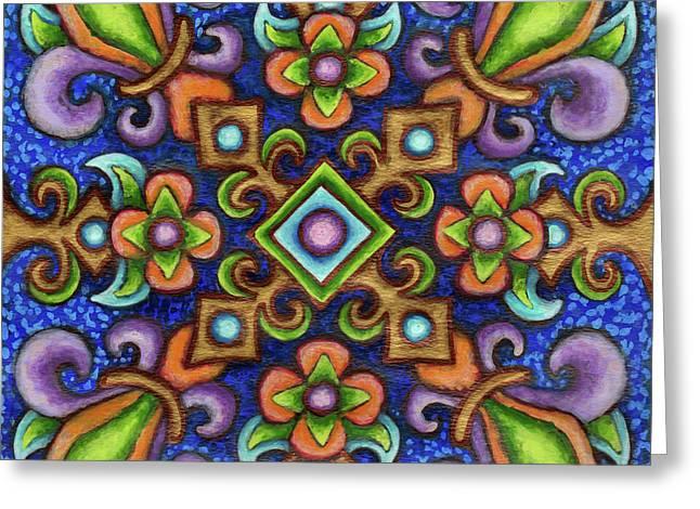 Botanical Mandala 3 Greeting Card