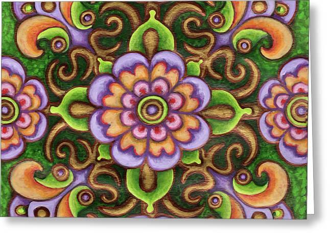 Botanical Mandala 5 Greeting Card