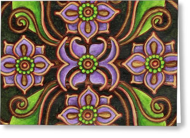 Botanical Mandala 6 Greeting Card