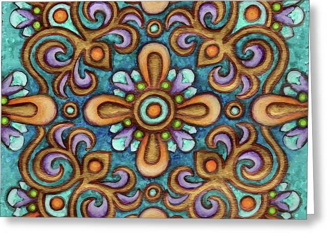 Botanical Mandala 7 Greeting Card