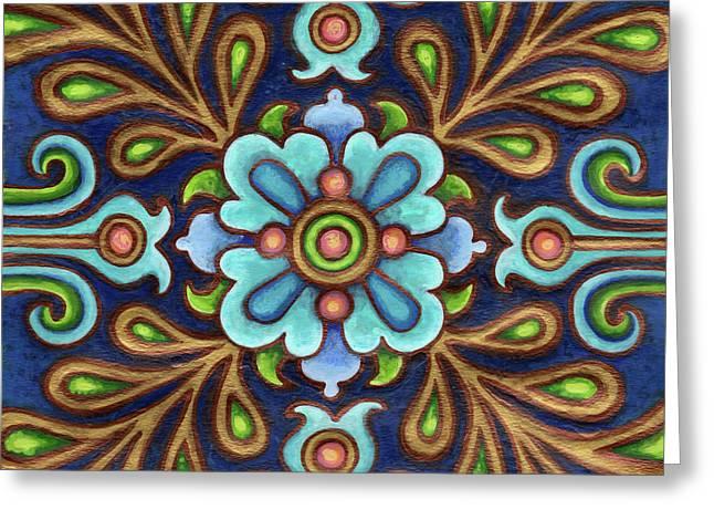 Botanical Mandala 9 Greeting Card