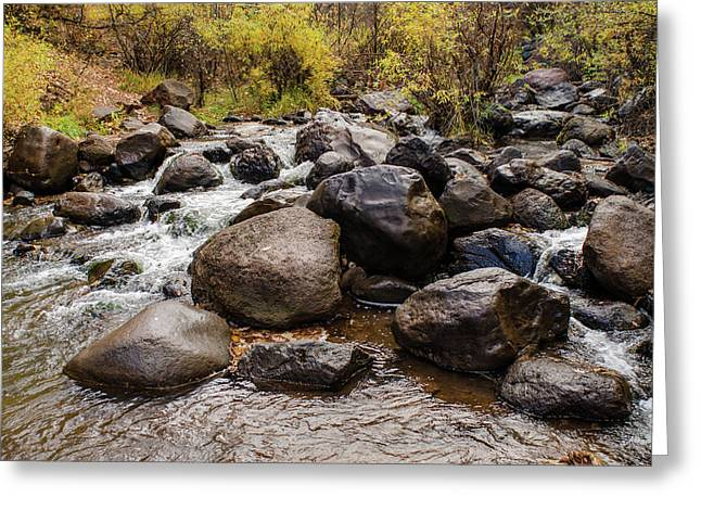Boulders In Creek Greeting Card