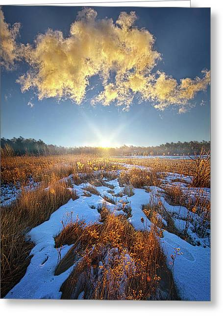 Greeting Card featuring the photograph Bound Within The Silence by Phil Koch