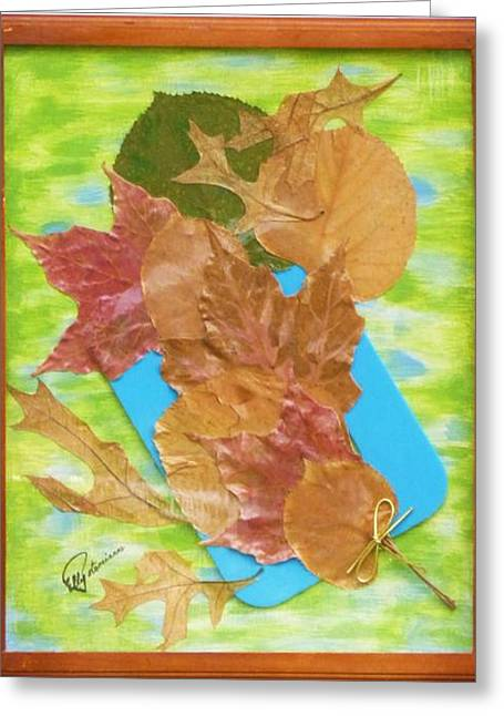 Bouquet From Fallen Leaves Greeting Card