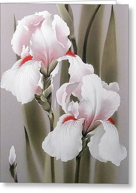 Bouquet Of White Irises Greeting Card