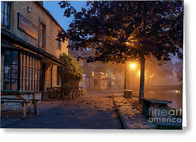 Bourton On The Water October Morning Greeting Card by Tim Gainey