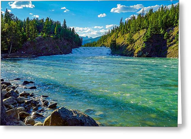 Bow River In Banff Greeting Card
