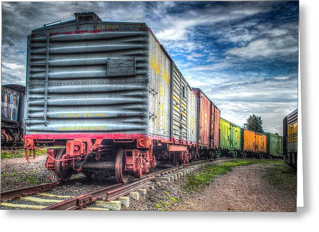 Box Cars Greeting Card by G Wigler