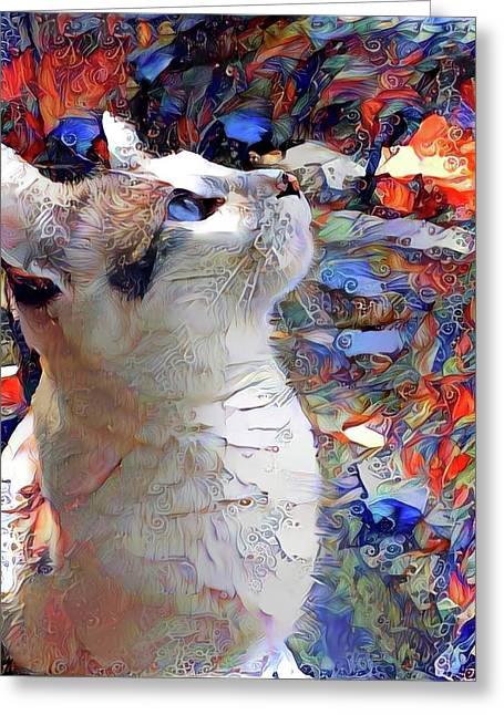 Brady The Half Siamese Half Tabby Cat Greeting Card