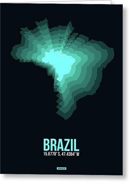 Brazil Radiant Map 2 Greeting Card