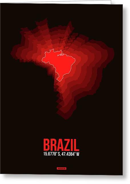 Brazil Radiant Map 3 Greeting Card