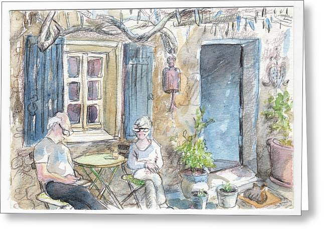 Breakfast Al Fresco Greeting Card