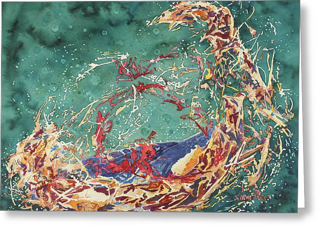 Breaking Out Empty Nest Iv Greeting Card