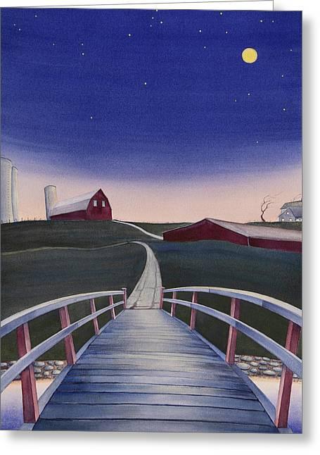 Bridge Over Buck Creek II Greeting Card