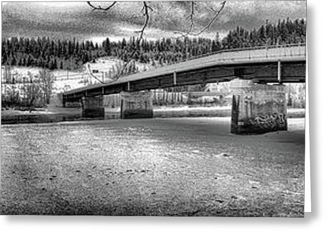 Bridge Over Frozen Waters Greeting Card