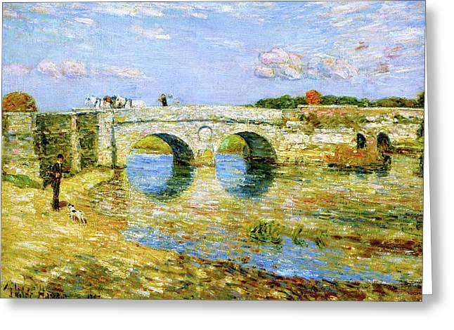 Bridge Over The Stour - Digital Remastered Edition Greeting Card