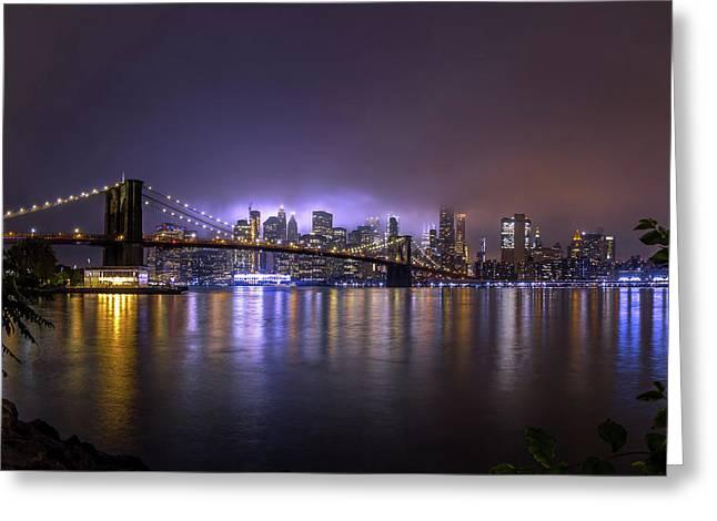 Bright Lights Of New York II Greeting Card