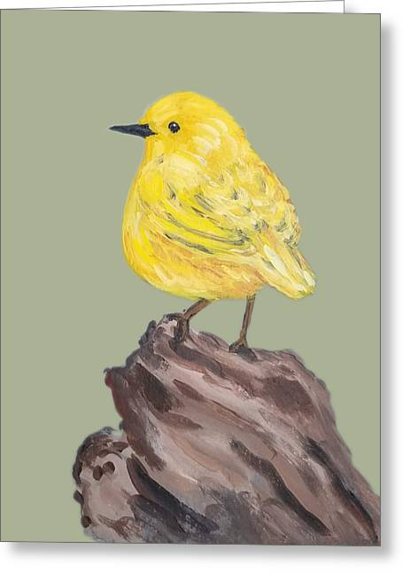 Greeting Card featuring the painting Bright Spot #2 by Maria Langgle
