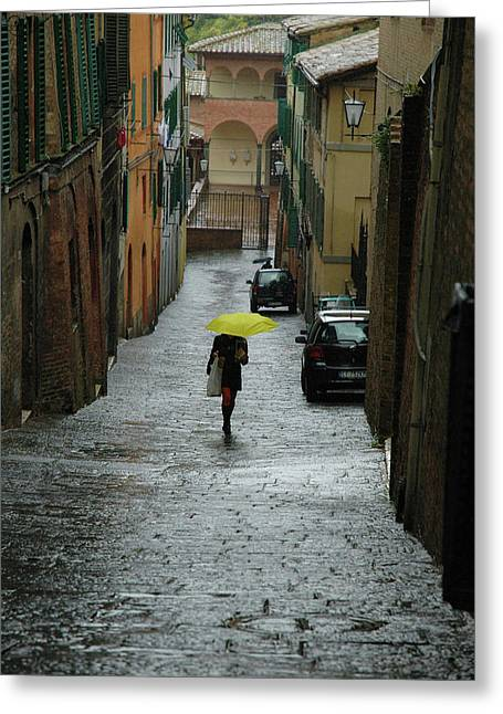 Bright Spot In The Rain Greeting Card