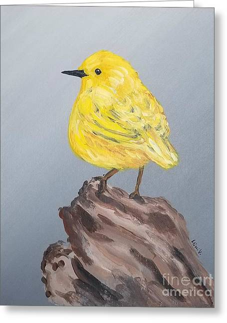 Greeting Card featuring the painting Bright Spot by Maria Langgle