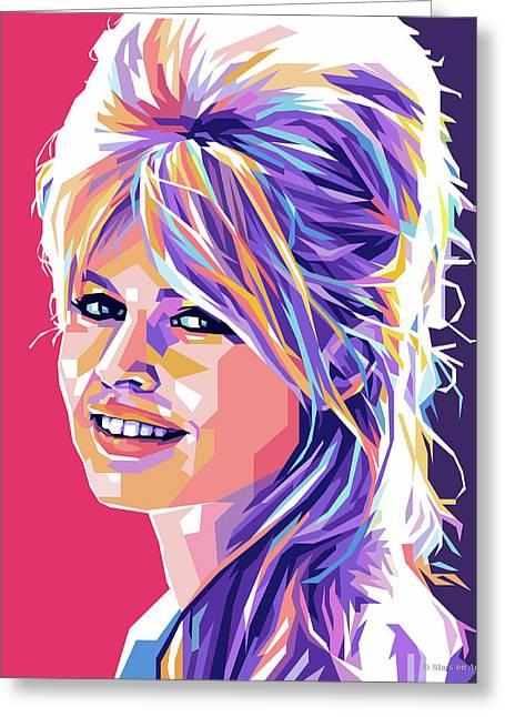 Brigitte Bardot Pop Art Greeting Card