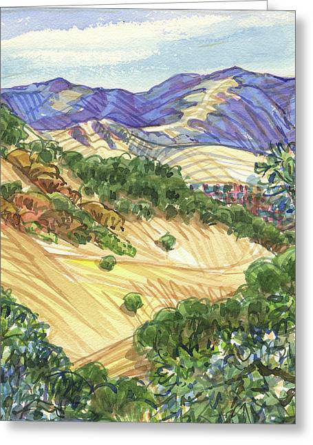 Briones From Mount Diablo Foothills Greeting Card