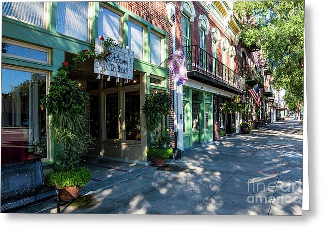 Broad Street Downtown Augusta Ga Greeting Card